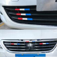 For Peugeot 301 4008 308 408 Car Front Grille Grill France Flag Color Cover Trim