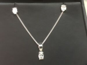 diamond pendant and earing set, Over Half A Carat Of Diamonds, Quite Special