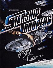 "STARSHIP TROOPERS cast(x3) Authentic Hand-Signed ""Casper Van Dien"" 11x14 Photo D"