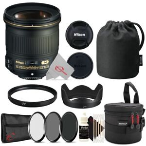 Nikon AF-S NIKKOR 24mm f/1.8G ED Fixed Lens with Essential Accessory Kit