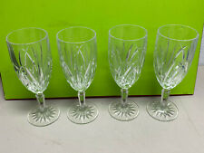"""beautiful Marquis Waterford crystal water goblets 8.5"""" lot 4"""