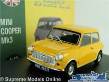 MINI COOPER S MK3 CAR MODEL 1:43 SIZE YELLOW ATLAS NOREV AUSTIN BMC LEYLAND T3