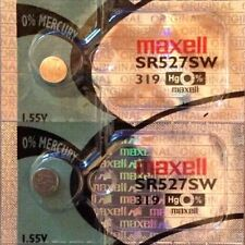 2 x MAXELL SR527SW 319 Silver Oxide 1.55 v Watch Battery Aussie Stock Fast Post