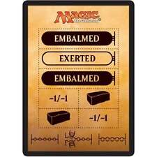 2x MTG Token - Punch Card / Counters NM - Amonkhet
