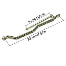 Aluminum Steering Tie Rod & Drag Link Silver for 1/10 RC Racing Car AXIAL WRAITH