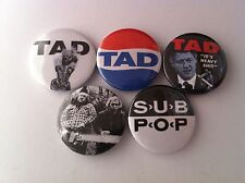 5 Tad Pin Button badges 25mm Grunge Nirvana Pearl Jam Seattle Grease Box Inhaler