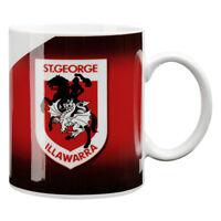 NRL Coffee Mug - St George Illawarra Dragons - Drinking Cup - Gift Box