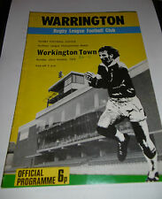 Warrington v Workington Town 22nd October 1972
