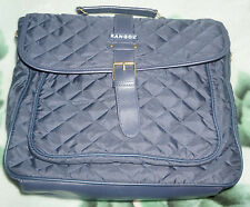Brand New Kangol Navy Blue Quilted Satchel Laptop Bag