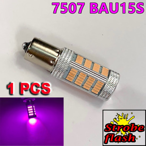 Strobe Purple 7507 BAU15S PY21W 92 LED Projector Bulb Rear Signal Y1 JP USA N