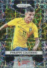 Prizm World Cup 2018 Laser Parallel Base Card #28 Philippe Coutinho - Brazil