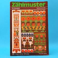 Zählmuster | Für Kreuzstich | Verlag für die Frau # 2054 | DDR 1979 A