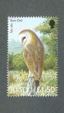 Jersey- Birds -Barn Owl-Birds of Prey-Raptors-owls mnh single 2001