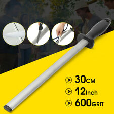 Oval 600# Diamond Knife Sharpening Steel Rod Sharpener Tool Blade 30cm/12''