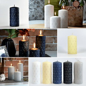 Handmade Pillar Candles ! Hand-decorated ! Candle Gift Set of 3