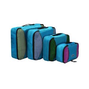 E04 Reisetasche Set 4stk Kleidertasche Packwürfel Packtaschen Organisator Koffer