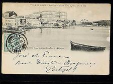 PORTUGAL 170.-VILLA DO CONDE -1904 Convento de Santa Clara e ponte sobre o Ave