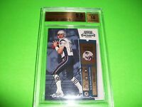 TOM BRADY 2000 Contenders RC AUTO BGS GEM MINT 9.5 / 10 PRISTINE Auto ~ POP 15 ~