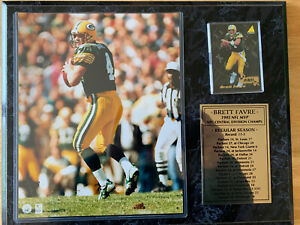 BRETT FAVRE 1995 NFL MVP 8x10 Photo/Card Plaque GREEN BAY PACKERS Central Champs