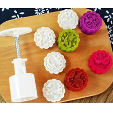 4 Rabbit Stamps 50g Moon Cake Mould DIY Round Mooncake Mold Baking Decor Tool