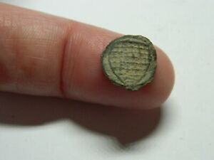 Tiny Un Researched Medieval lead weight / token shield Metal detecting detector