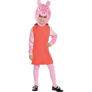 Peppa Pig Halloween Costume for Girls, Small, Includes a Dress, Tights and More