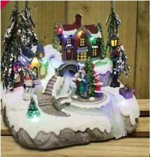 Kingfisher Battery Operated Christmas Xmas Medium Carol Village Scene
