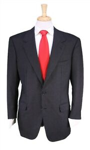 Brioni Solid Charcoal Gray Wool Flannel Super 150's Wool 2-Btn Suit 40R