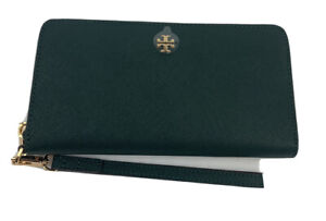 Tory Burch Emerson Zip Continental Wallet-Jitney Green