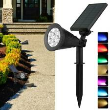 7 LED jardin solaire projecteurs spot extérieur lampe pelouse paysage étanche SH