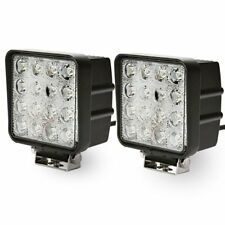 2X 48W Spot Square LED Light Bar Driving/Fog SUV 4WD UTE Tractor Boat Offroad