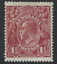 AUSTRALIA :1919 1 1/2d deep red-brown    SG59 MNH