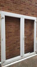 used white upvc double glazed french doors