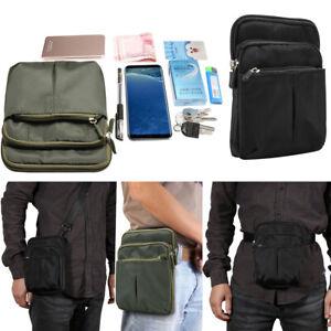 Men Nylon Military Tactical Fanny Pack Waist Bag Messenger Shoulder Bag Outdoor