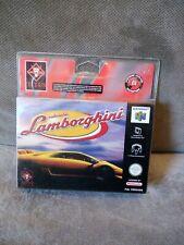 Blister Rigide Neuf Nintendo 64 N64 Lamborghini Titus jeu vidéo