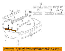 MITSUBISHI OEM 04-08 Galant Rear Bumper-Support Bracket Left MR987369