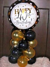 FOIL BALLOON AGE 40 40th BIRTHDAY TABLE DECORATION DISPLAY AIRFILL B&G
