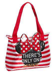 Disney Minnie Mouse Beach Bag Ladies Girls Reusable Shopping School Tote Bag