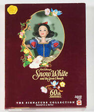 DISNEY SNOW WHITE DOLL 60TH ANNIVERSARY SIGNATURE COLLECTION MATTEL NRFB