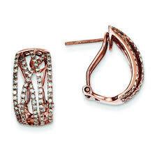 14K Rose Gold Diamond Omega Back Earrings (0.74 CTW, G-I Color, I1-I2 Clarity)