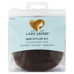 Lady Jayne Bun Styler Kit - Dark (Small/Medium) Lightweight Hair Tool 15002DK