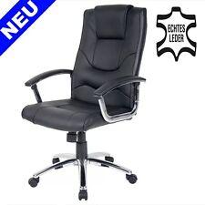 LEDER Bürosessel Chefsessel Schreibtischstuhl Office Drehstuhl Sessel Stuhl NEU