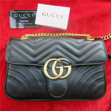 Gucci GG Marmont Medium Quilted Black Handbag Shoulder Bag Mint Condition