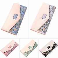 Women Lady Fashion Pu Leather Zip Wallet Clutch Purse Long Card Holder Handbag