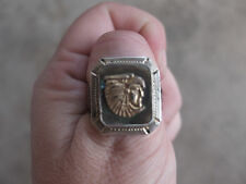 vintage Eagle Man Aztec Incan Sterling Mexico Mexican Biker Ring 9