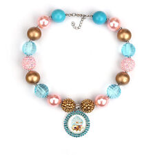Cupcake Queen Pendants Chunky Bead Bubblegum Necklace For Kid