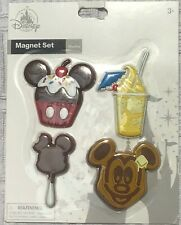 Disney Park Magnet Set Snack Food Dole Whip Mickey Mouse Waffle Cupcake Cake Pop