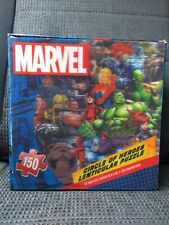 """NEW & SEALED * MARVEL 150 PIECE CIRCLE OF HEROES 18"""" DIAMETER LENTICULAR PUZZLE"""