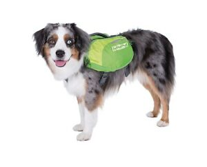 NWT Daypak Dog Backpack Hiking Gear For Dogs by Outward Hound Neon Green Large