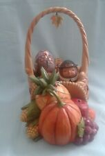 Jim Shore Heartwood Creek Set/5 Autumn/Cornucopia Basket Figurine